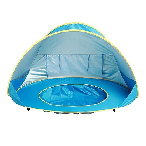 qazxsw Baby Beach Tent,Pop Up Tent,Outdoor Sun Shelter Pop-up Baby Tent, UV Protection Paddling Pool for Family Garden Camping Picnic Fishing