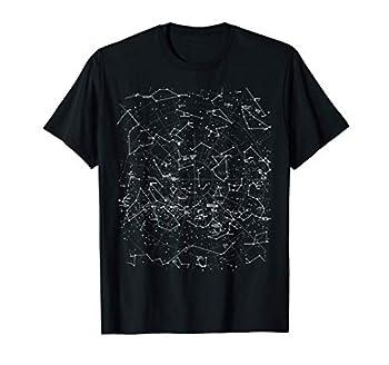 Astronomy Constellations Map Stars Galaxy Celestial T-Shirt