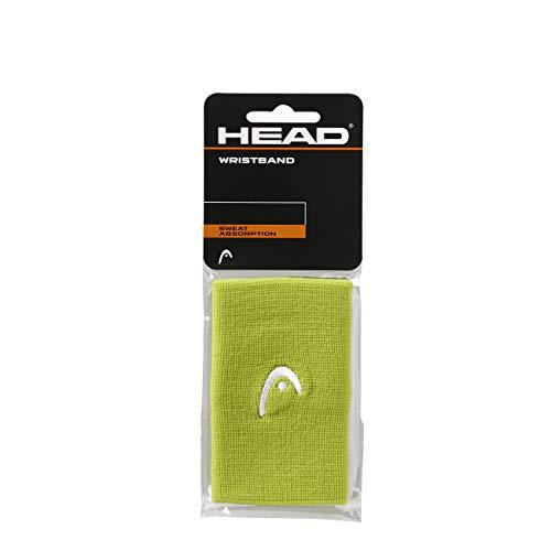 "HEAD Muñequera de 5"" Accesorio de Tenis, Adultos Unisex, Lime, Talla única"