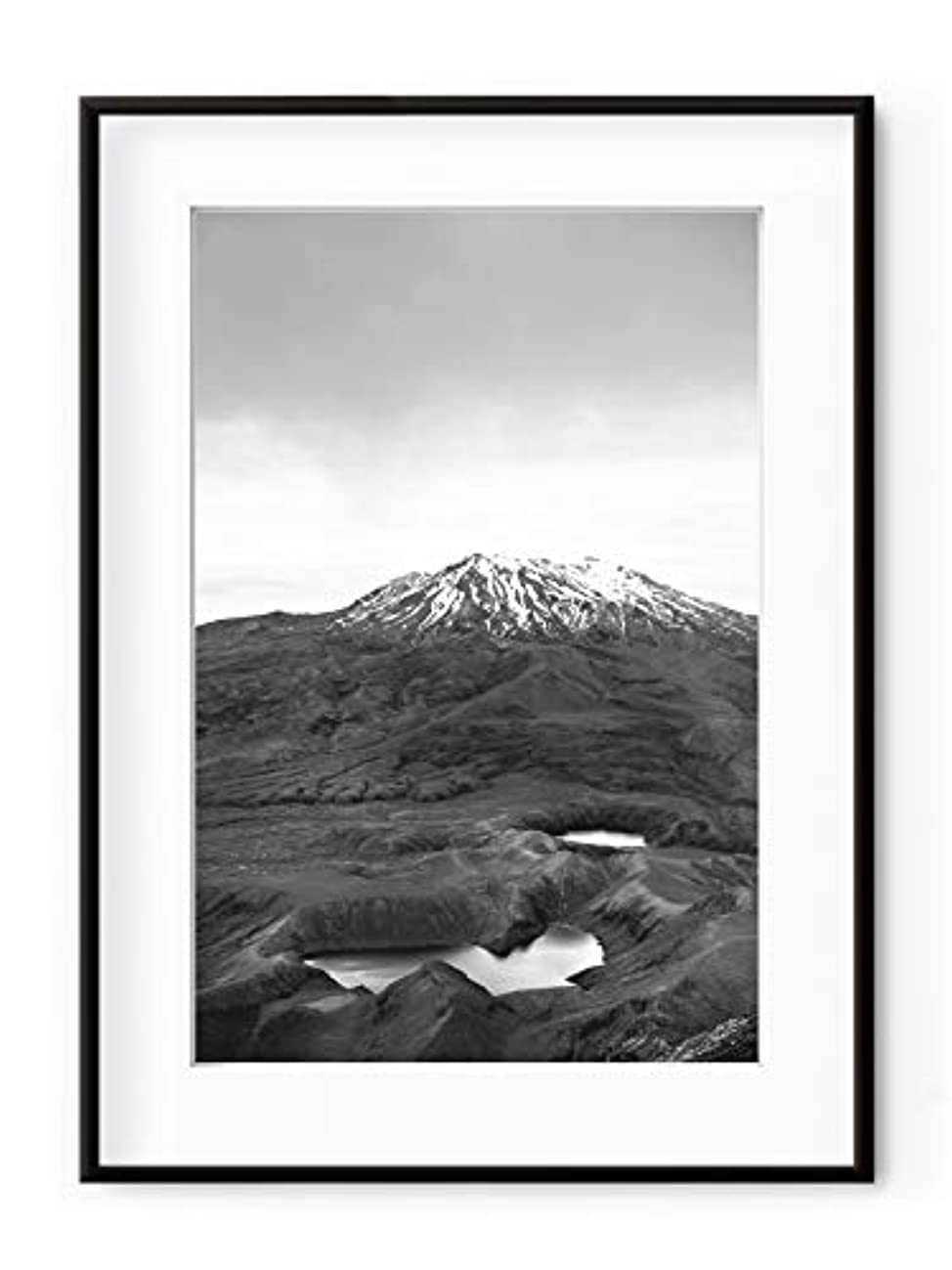 MT Ruapehu, New Zeland, Aluminium Frame, Satin Black, Full Format, Multicolored, 70x100