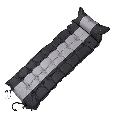 Outdoor Air Matelas humidité Air gonflable Mat antidérapant avec Camping tente Bed Mat sommeil Pad, noir