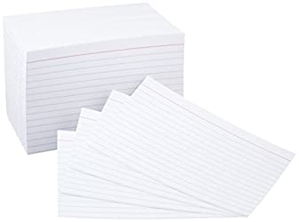 Amazon Basics 4 x 6-Inch Ruled Lined White Index Note Cards, 500-Count