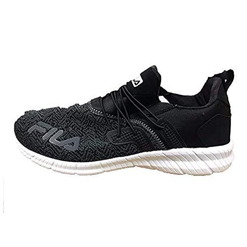 Fila Mens Heat Fuse Sneaker,Black/Silver,9