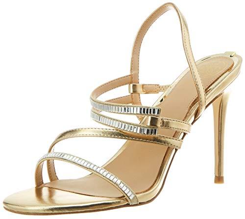 Guess Damen KADEN2/SANDALO Leathe Sandale mit Absatz, Gold, 41 EU