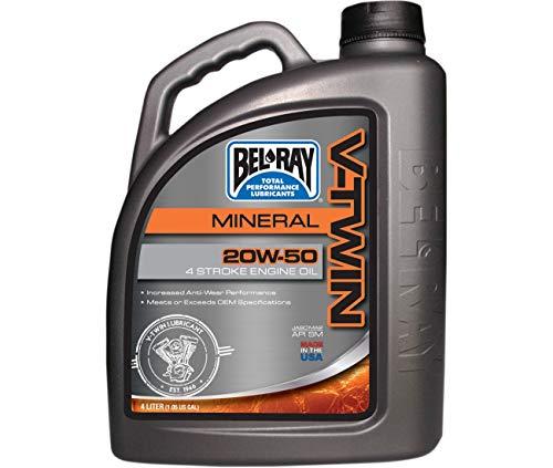 Compatible Con / Reemplazo Para Aceite Mineral V-Twin 4 Tiempo 4 Litros 20W50 Bel RAY-96905-BT4