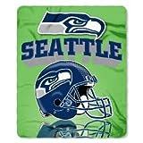 NFL Officially Licensed Gridiron Series Fleece Throw Blanket (Seattle Seahawks)