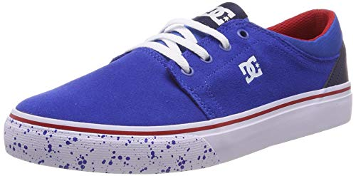 DC Shoes Trase Se, Zapatillas de Skateboard para Niños, Azul (Navy/Red Nrd), 36 EU