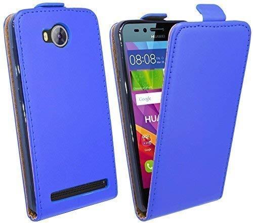 ENERGMiX Handytasche kompatibel mit Huawei Y3 II (2) Flip Style Schale Cover Case Hülle in Blau Klapptasche Hülle
