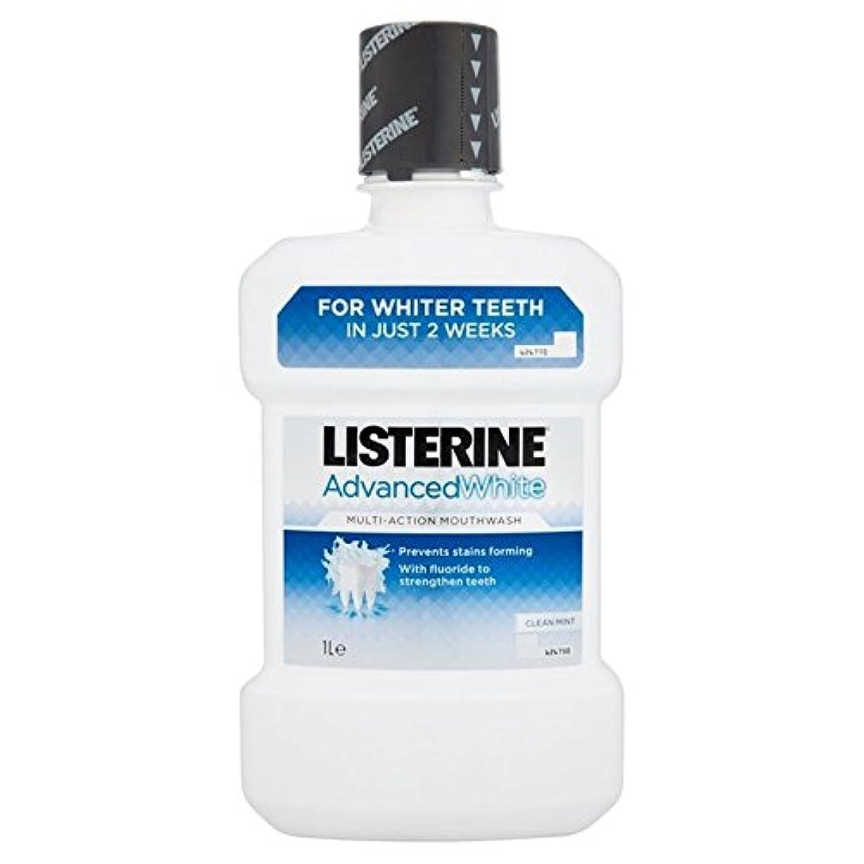 行進波レーザリステリンは、マウスウォッシュの1リットルをホワイトニング高度 x4 - Listerine Advanced Whitening Mouthwash 1L (Pack of 4) [並行輸入品]