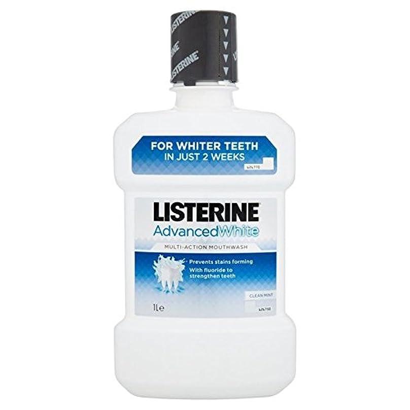 不適切な避けるハブブリステリンは、マウスウォッシュの1リットルをホワイトニング高度 x2 - Listerine Advanced Whitening Mouthwash 1L (Pack of 2) [並行輸入品]