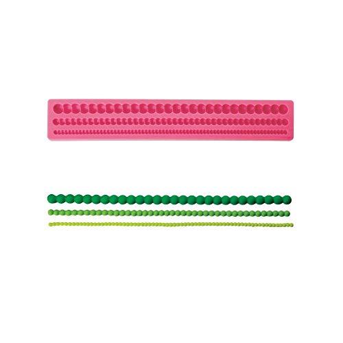 Moule en silicone pour fondant ou blütenpaste, collier de perles env. 30 cm de long x 5 cm de décoration