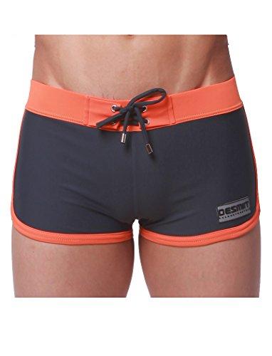 "WUAMBO Men's Swimwear Tie Rope Sport Shorts,#3 Grey,US L/Asia XXL(Waist:35""-37"")"