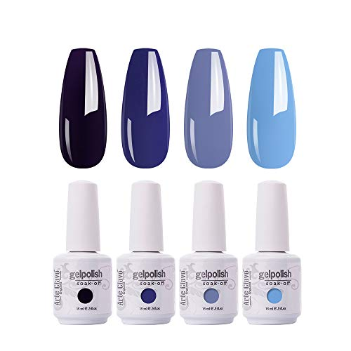NAILCO Gel Nail Polish 4 Colours Set UV LED Soak Off Nail Art Manicure Salon Set 15ml
