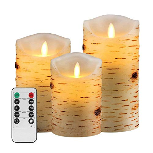 ZR&YW Flameless Battery Operated LED Candles, with Remote Control Flickering Electric Fake Lights for Decoration Christmas Wedding Birthday Party