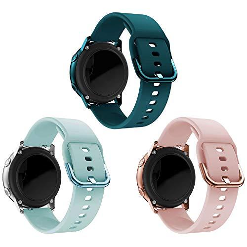 kitway Cinturino Compatibile Galaxy Watch Active Active2 Galaxy Watch 42mm Gear S2 Classic, Silicone Cinturino di Ricambio per Galaxy Watch 3 41mm Galaxy Active 40mm Active 2 40mm 44mm Smart Watch