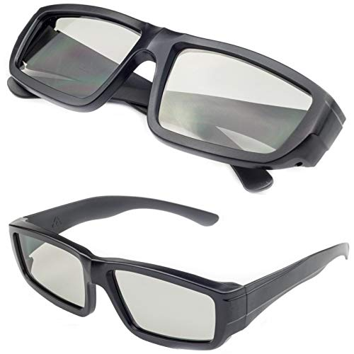 Digicharge Black Universal 3D Glasses Passive Polarised Home Film TV Cinema...