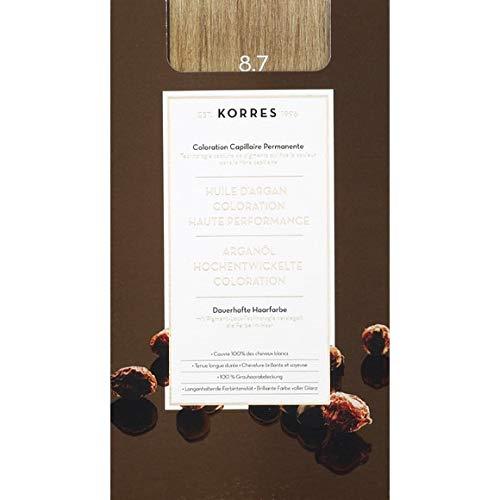 Korres - Coloration Huile D'Argan Toffee 8.7 - La Boite De 145Ml - Vendu par pièce - Livraison Gratuit en France