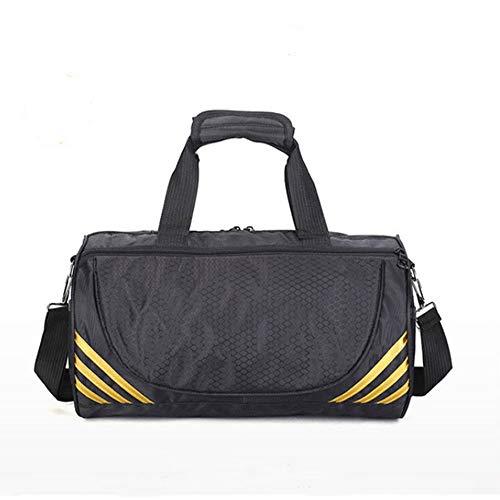 LUXIAOYU Men And Womensport Gym Bag Fitness Handbag, Taekwondo Backpack Outdoor Fashion Sport Gym Travel Leisure Shoulder Bag Fitness Yoga Cylinder Handbag (Gold silver),Gold,M