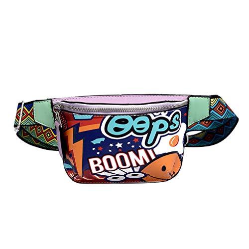 Dorical Bauchtasche Damentasche Umhängetasche Damen Crossbody Taschen Schultertasche Mode Hüfttasche Casual Citytasche mit Reißverschluss für Frauen Klein, Geeignet für Valentinstag(Lila)