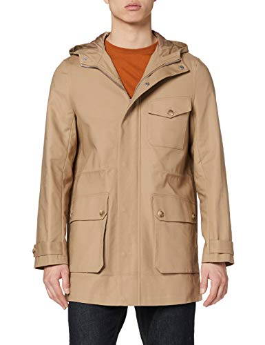 Marca Amazon - find. Abrigo Parka Hombre, Beige (Stone), XL, Label: XL
