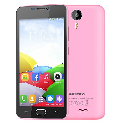 Blackview BV2000 5 inch IPS Screen Android 5.1 Smartphone, MTK6735 Quad-core 1.0GHz, RAM:1GB ROM:8GB, Dual SIM Dual Standby, FDD-LTE & WCDMA & GSM(Pink)