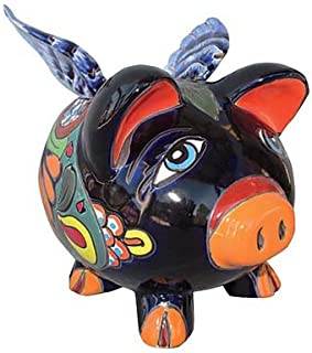 Talavera Pottery Flying Pig Bank