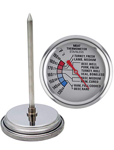 Blacksail Kitchen Analog Meat Thermometer for Grilling Smoking Oven Safe Stainless Steel...