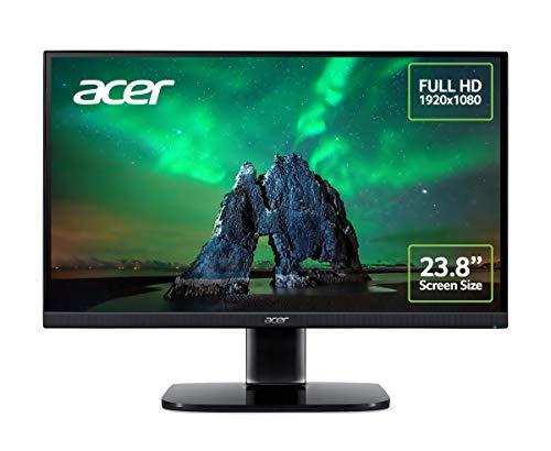 """Acer KA242Ybi - Monitor de 23,8"""" Full HD 75 Hz (60,5 cm, 1920x1080, Pantalla IPS LED, ZeroFrame y FreeSync, 250 nits, Tiempo de Respuesta 1ms, Conector VGA) - Color Negro"""