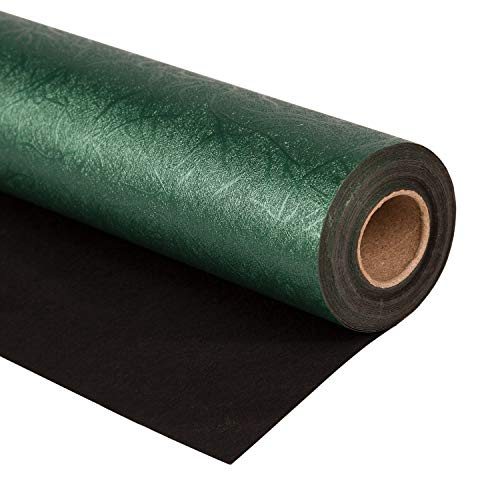 WRAPAHOLIC Wrapping Paper Roll - Reversible Green and Black for Birthday, Holiday, Wedding, Baby Shower Wrap - 30 inch x 16.5 feet