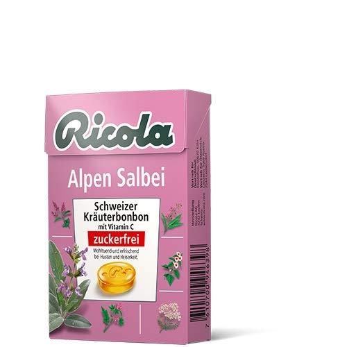 Ricola Alpen Salbei ohne Zucker 50g 5er Pack