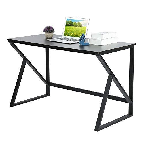Computertisch PC Laptop Tisch Arbeitstisch X Förmiger Bürotisch Konferenztisch Metall Esszimmer Spieltisch Workstation Büroarbeitsplatz für PC und...