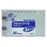 フラットファイルA4E3冊パック青 99Kフ-A4E-BX3