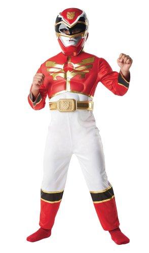 Rubie's-déguisement officiel - Power Rangers - Costume Luxe 3D Eva Méga Force Rouge - Taille S 3-4 ans- I-886668S