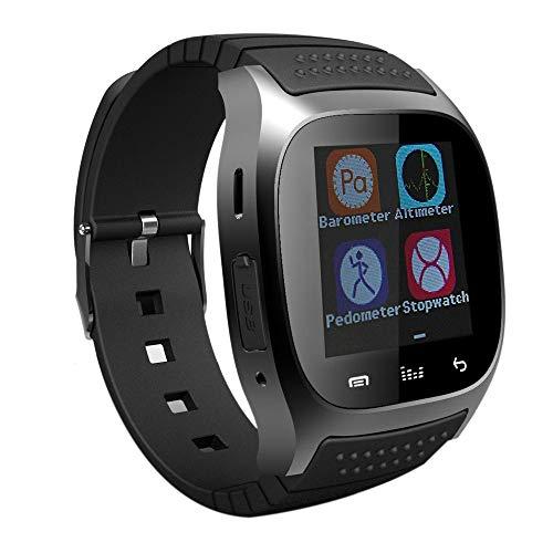 CUHAWUDBA da Polso Smart Horloge M26 Impermeabile Smartwatch Chiamata Pedometro di Musica Tracker di Fitness per Android Smart Phone PK A1 (Nero)