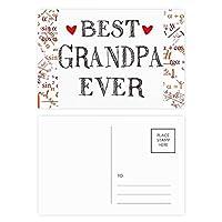 これまでに最高のおじいちゃんの引用・ハート 公式ポストカードセットサンクスカード郵送側20個