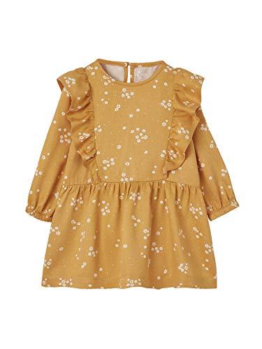 Vertbaudet Mädchen Baby Kleid senfgelb Bedruckt 74