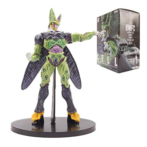Qwead Draon Ball Super Cell Anime Figura De Acción 22Cm, PVC Stand Model Toys Dolls Goku Broly Figurine Figural Collection