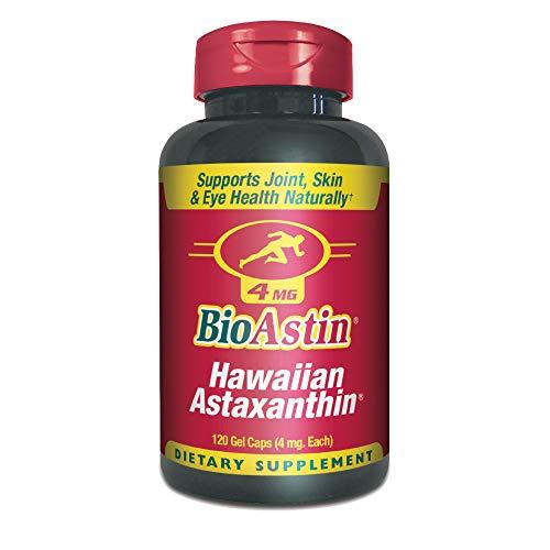 Nutrex Bioastin Hawaiian Astaxanthin, Complesso vitamonico, antiossidante, 4mg x 120 capsule gelatinose