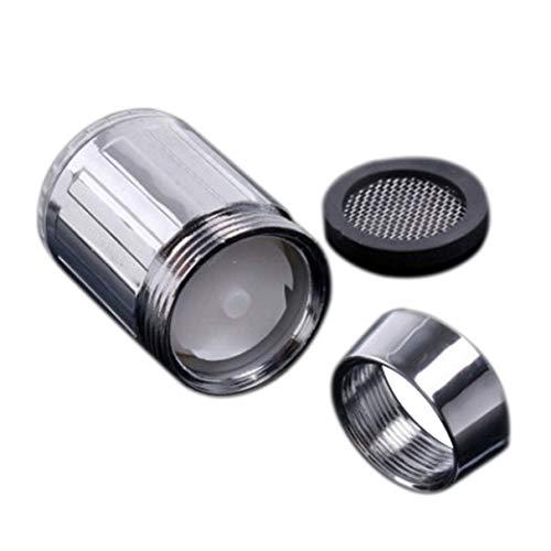 Morninganswer Control de Temperatura del Grifo LED/Lámpara de Grifo de Color Luminoso Tricolor Atmósfera de Ajuste de Moda Profesional con Adaptador