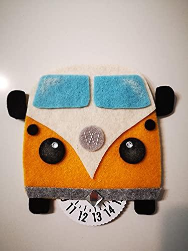 Disco Orario per auto Volkswagen furgone T2 - idea regalo gadget simpatica uomo donna hippie - accessorio auto simpatico