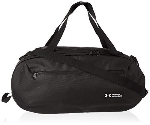 Under Armour Roland Duffle SM, borsa da palestra versatile e robusta, borsa da uomo con pratici scomparti da uomo, nero (nero/bianco), taglia unica