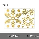 DXAQC Christmas Window Decoration, Snowflake Window Clings Snow Flakes PVC Stickers for Christmas Window Display (C,4pcs)