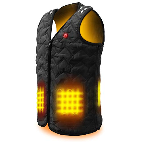 COOWOO Heated Vest for Men Women, Lightweight Heated Jacket, Fast Heating USB Heated Coat for Indoor and Outdoor