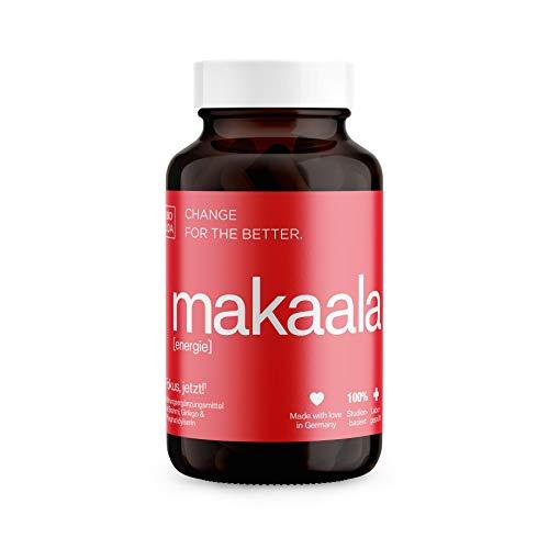 BIOLOA makaala - Mentale Energie & Fokus - Mit Vitamin B5 und B12 für Konzentration und Gedächtnis* - Ginkgo, Taurin & Ginseng - vegan, laborgeprüft, in Deutschland hergestellt, 60 Kapseln
