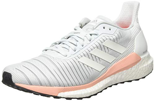 adidas Solar Glide 19, Zapatillas de Correr por Carretera. Mujer, Bleu Glace Blanc Rose Fuschia, 38 EU