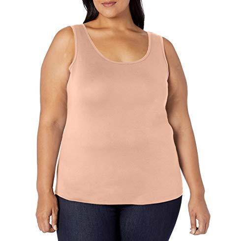 Amazon Essentials Plus Size Tank Fashion-t-Shirts, Color Piel (Nude), 2X
