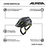 ALPINA Unisex - Kinder, CARAPAX JR. Fahrradhelm, black-neon-yellow, 51-56 cm - 5