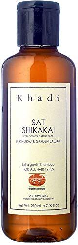 Glamorous Hub Khadi Mauri Herbal Shikakai Champú Nutrición Y Fortalecimiento De Raíces 210 Ml (El Embalaje Puede Variar)