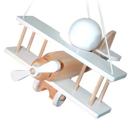 Waldi Leuchten - Lámpara de techo Avión pequeño, natural/blanco de ballena 90112.0