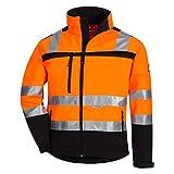 Nitras Motion TEX VIZ Warnschutz Softshell-Jacke I Arbeitsjacke mit 3M